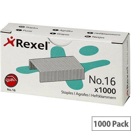 Rexel No.16 6mm Staples Ref 06121 Pack 1000