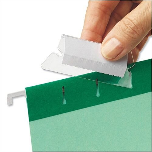 Plastic Tabs For Esselte Pendaflex Suspension Files Clear 94514 Pack 25