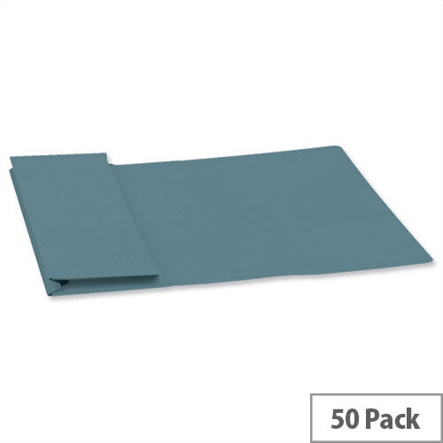 Guildhall Foolscap Document Wallet Blue 315gsm Full Flap Pack 50