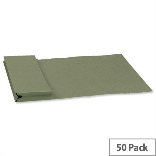 Guildhall Legal Document Wallet W356xH254mm Green Pack of 50