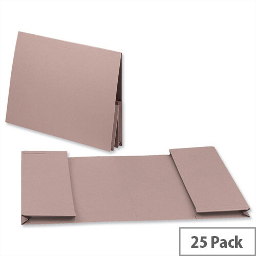 Guildhall Legal Wallet Double Pocket Manilla 2x35mm Foolscap Buff Pack of 25