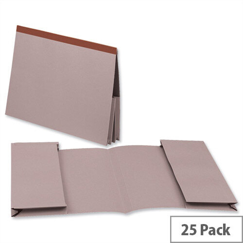 Guildhall Legal Wallet Foolscap Buff Double Pocket Reinforced Manilla Pack of 25
