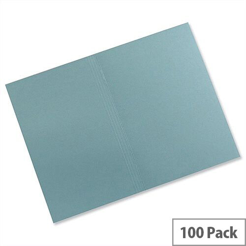 Guildhall Square Cut Folders Manilla Foolscap Blue FS315 Pack 100
