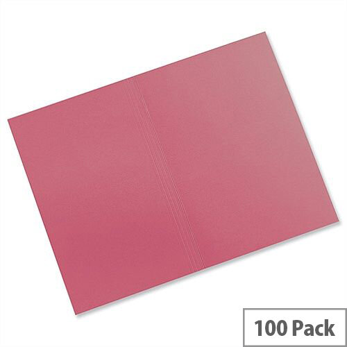 Guildhall Red Square Cut Folders Manilla Foolscap FS315 Pack 100