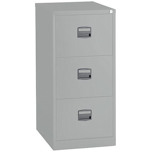 3 Drawer Steel Filing Cabinet Lockable Grey Trexus By Bisley