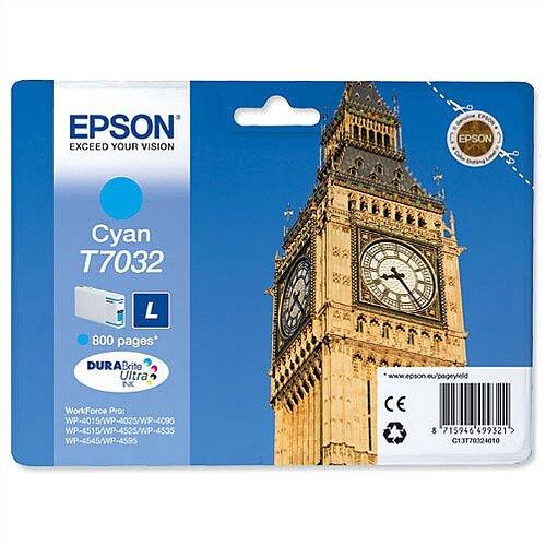 Epson Big Ben T7032 Cyan Ink Cartridge 800pp C13T70324010