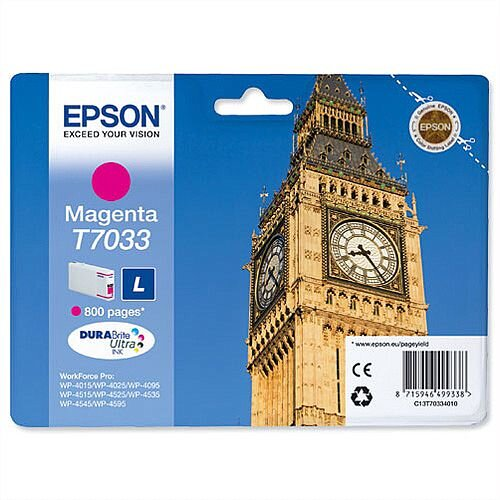 Epson Big Ben T7033 Magenta Ink Cartridge 800pp C13T70334010