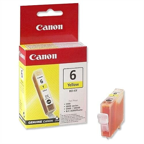 Canon BCI-6Y Yellow Ink Cartridge 4708A002