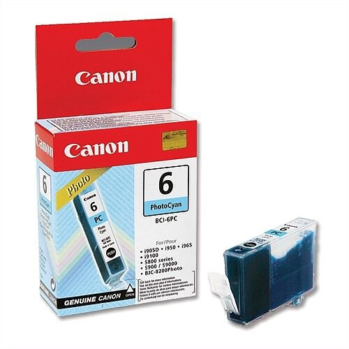 Canon BCI-6PC Photo Cyan Ink Cartridge 4709A002