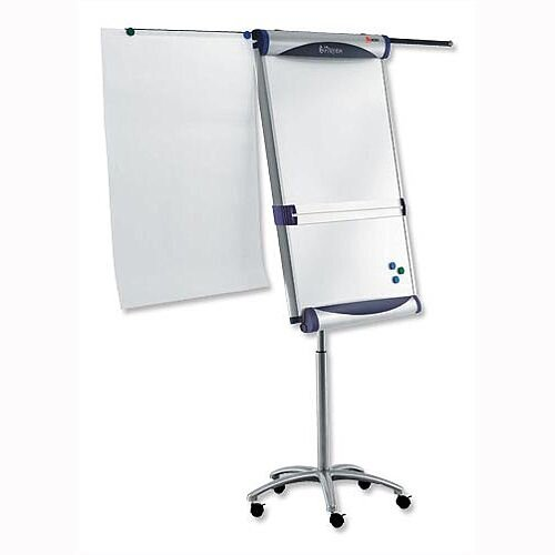 Nobo Piranha Mobile Magnetic Flipchart Easel with Extending Display Arms