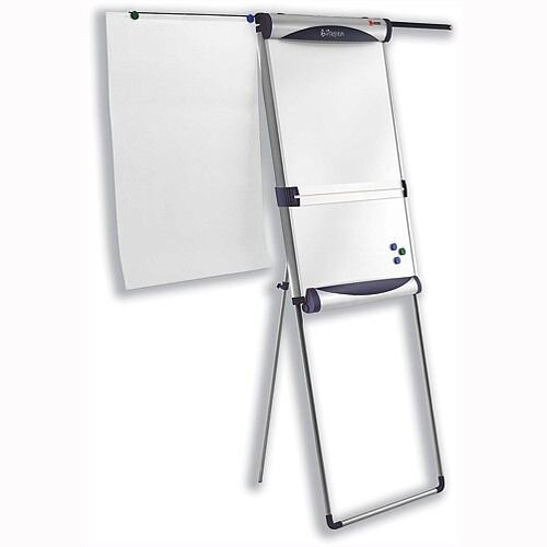 Nobo Piranha Magnetic Flipchart Easel with Extending Display Arms