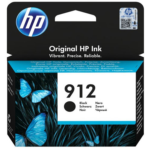HP 912 - 8.29 ml - black - original - ink cartridge - for Officejet 8012, 8014, 8015; Officejet Pro 8022, 8024, 8025, 8035