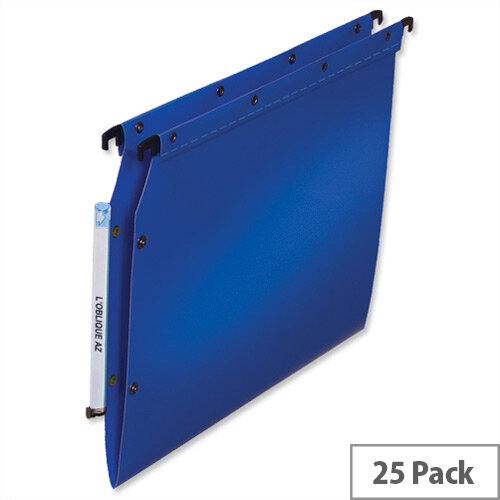 Elba Ultimate Polypro Lateral 330mm File V-Base 15mm Blue Ref L683520 Pk 25