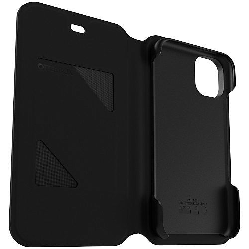 OtterBox Flip Cover for Apple iPhone 11 Pro - Strada Series - Rubber Finish - Colour: Black Night