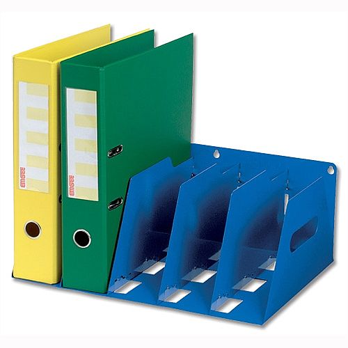 Lever Arch Filing Rack Portable Blue Rigid Metal