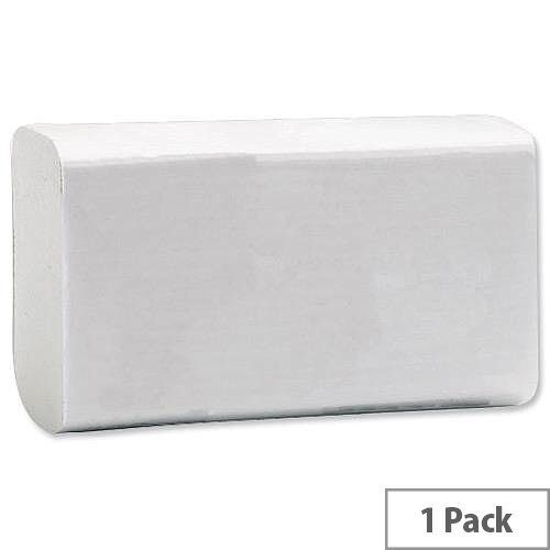 Paper Hand Towels C-Fold 2 Ply 230x310mm 200 Towels Per Sleeve 1 Sleeve White (200 Sheets)