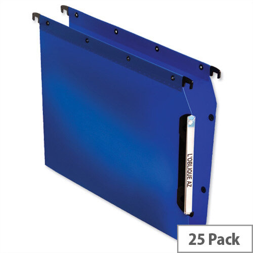 Elba Ultimate Polypro 330mm Lateral File Wide Base 30mm Blue Ref L683022 Pack 25