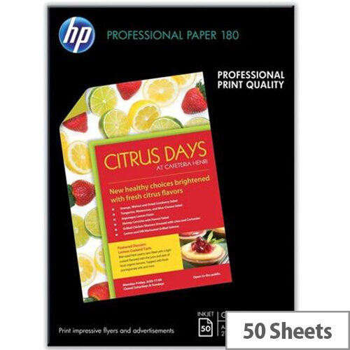 HP A3 Superior Inkjet Photo Paper Glossy 180gsm (Pack of 50)