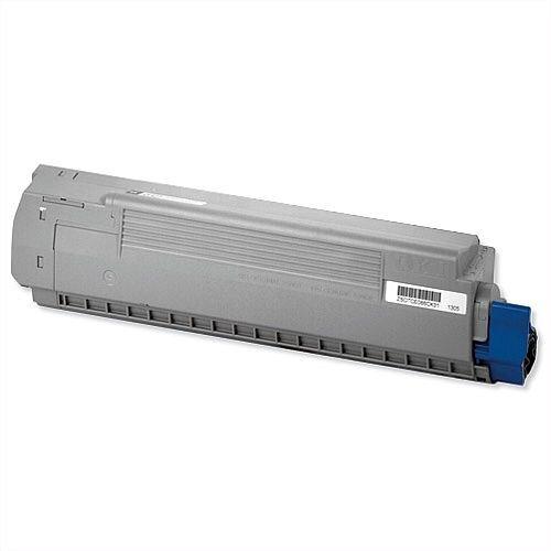 Oki MC861 Laser Toner Cartridge Page Life 10000pp Cyan Ref 44059255