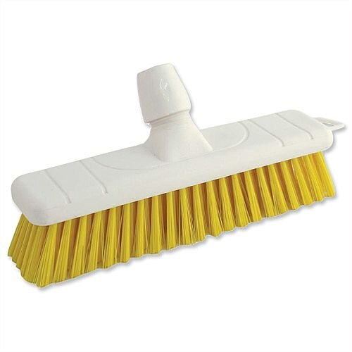 Yellow Soft Bristle Indoor Brush 12 Inch Head