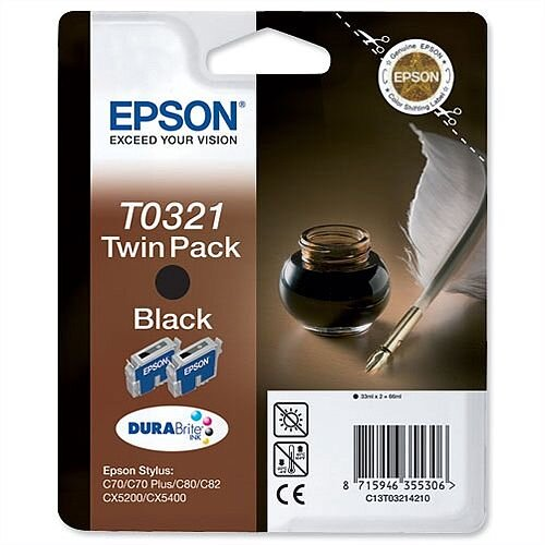 Epson T0321 Black Ink Cartridge Quill Series C13T03214010