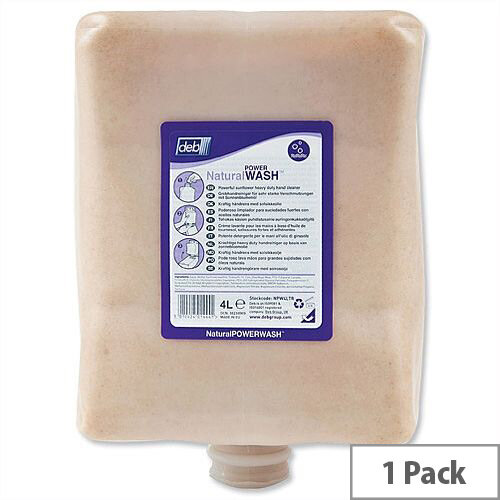 DEB Natural Hand Soap Refill Cartridge 4 Litre (Pack 1) NPW4LTR