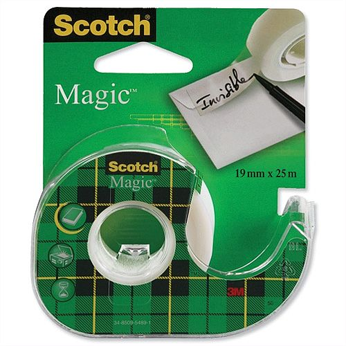 Scotch Magic Tape on Dispenser 19mm x 25m (Pack 1)