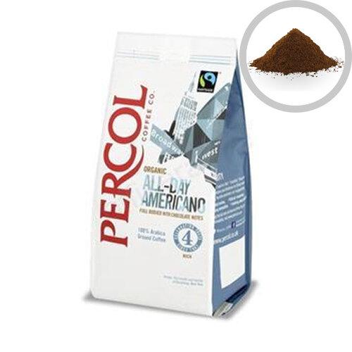 Percol Fairtrade Cafe Americano Ground Coffee Organic Arabica High Roast 200g Ref A07932