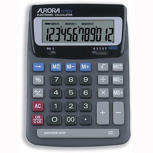 Aurora Heavy Duty Desktop Calculator Battery Solar-Power DT85V