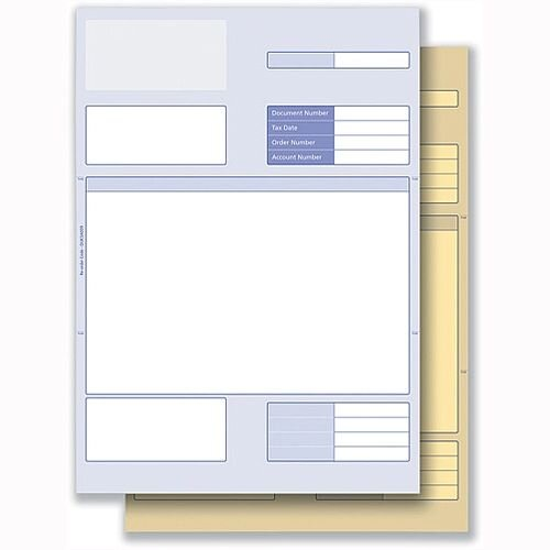 Invoice Form 2 Part for Laser or Inkjet White Yellow Communisis Sage Compatible Pack 500