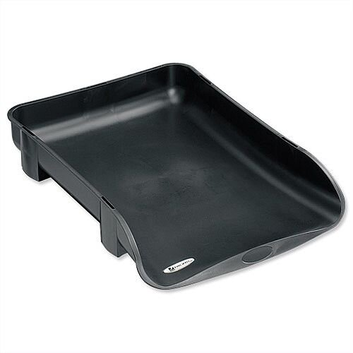 Rexel Agenda2 Charcoal Letter Tray 55mm Depth