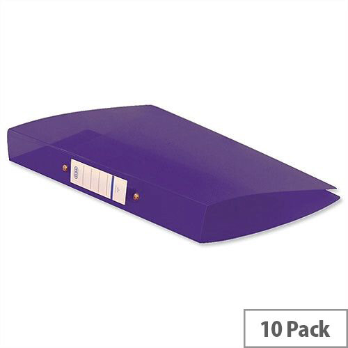 Elba Snap Ring Binders A4 Purple 2 O-Ring 25mm Size Pack of 10