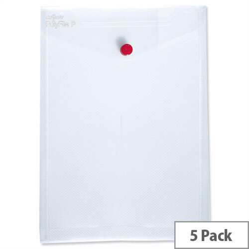 Snopake Polyfile P A6 Wallet File Portrait Clear Pack 5