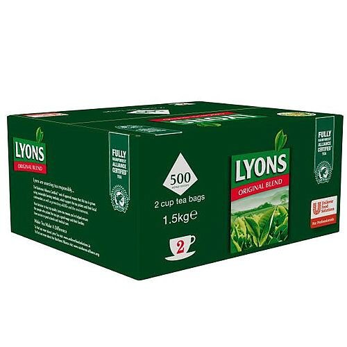 Lyons Original Blend Tea Bags 2 Cup Pack 500 IZ142