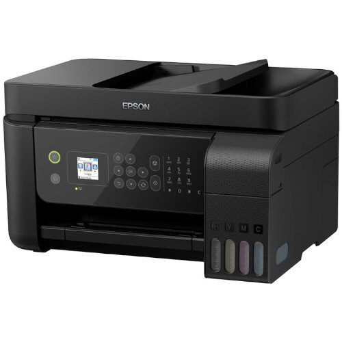 Epson EcoTank L5190 - Multifunction InkJet Printer - Print, Copy, Scan, Fax - A4, Colour - Up to 33 ppm Printing Speed - 100 Sheets Capacity - USB, LAN, Wi-Fi