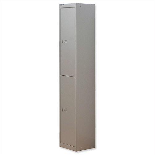 Bisley 2 Door Locker Steel Goose Grey CLK122-73