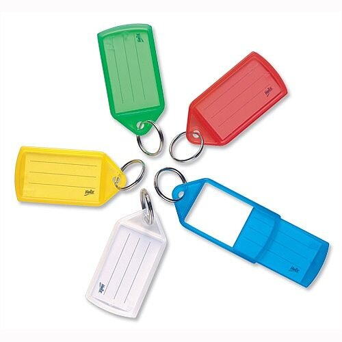 Key Hanger Sliding with Fob Label Area Tag Size Large Assorted Pack of 10