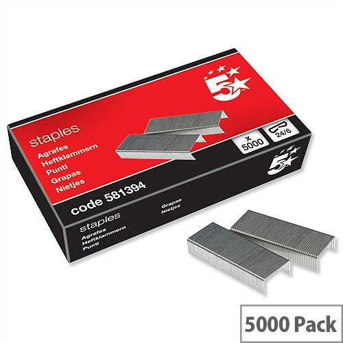 24-6 Staples Box 5000 5 Star
