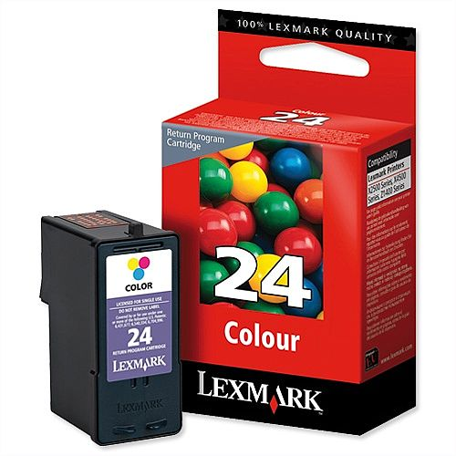 Lexmark No 23 and No 24 Inkjet Cartridges Combo Pack 18C1419E