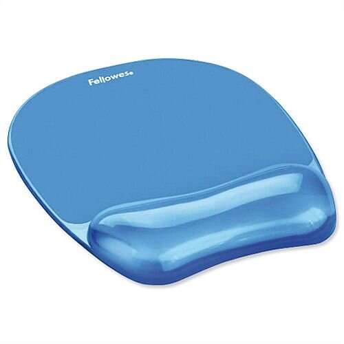 Fellowes Gel Mouse Pad with Wrist Rest Blue