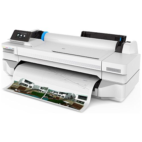 HP DesignJet T130 24-in Plotter Printer - Up to 35 sec/page on A1/D - Fast Ethernet (100Base-T) - Hi-Speed USB 2.0 - Wi-Fi - Mobile Printing