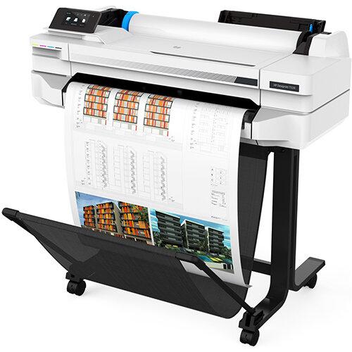 HP DesignJet T530 24-in Plotter Printer - 2400 x 1200 dpi - Thermal Inkjet - A0,A1,A2,A3,A4 - Black,Cyan,Magenta,Yellow