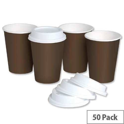 Single Wall Disposable Paper Cups 10oz/296ml With Plastic