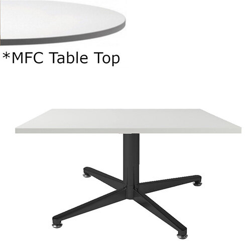 Frovi PITCH Square Coffee Table With Black Base &MFC Top W600xD600xH420mm