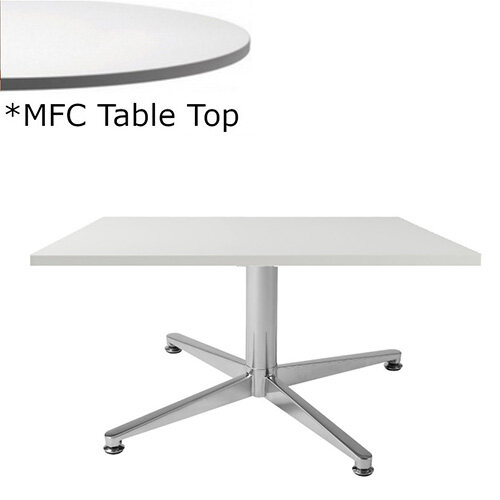 Frovi PITCH Square Coffee Table With Chrome Base &MFC Top W600xD600xH420mm