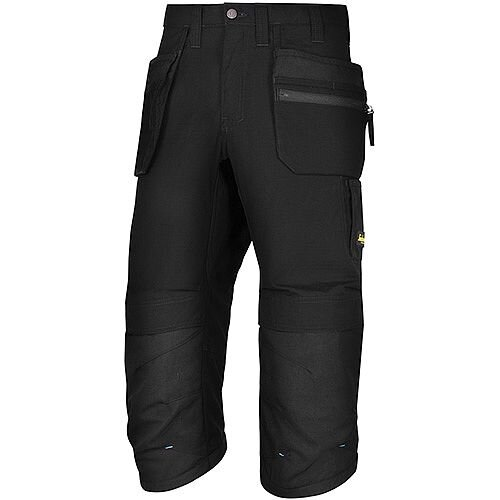 "Snickers LW 37.5 PirateTrousers Plus Holster Pockets Waits 33"" Inside Leg 3/4 Length Black Size 48 WW1"