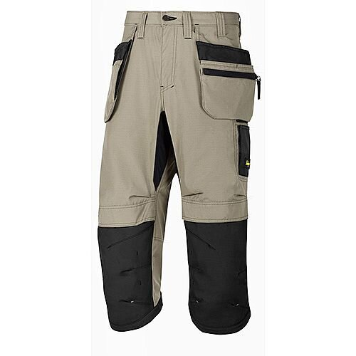 "Snickers LW 37.5 PirateTrousers Plus Holster Pockets Waits 31"" Inside Leg 3/4 Length Khaki Black Size 46 WW1"