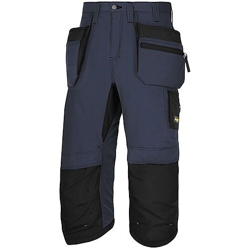 "Snickers LW 37.5 PirateTrousers Plus Holster Pockets Waist 47"" Inside Leg 3/4 Length Navy Black Size 62 WW1"