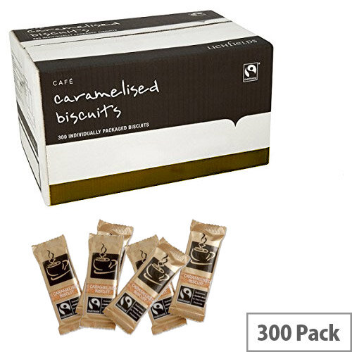 Fairtrade Coffee Biscuits Caramelised Individually-wrapped Portions Ref A03923 [Pack 300] SNG02487