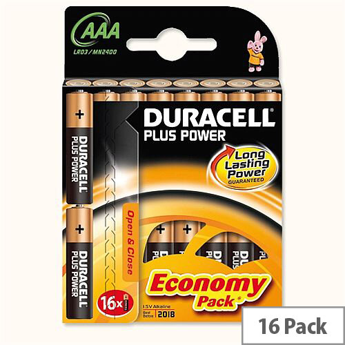 Duracell Plus Power AAA Battery Alkaline 1.5V (Pack 16)